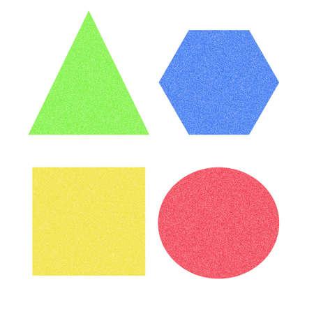 assorted colored square ,triangle, circle and hexagon Фото со стока - 1975451