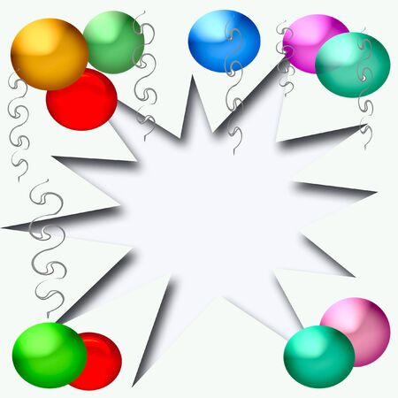 party poster balloons and streamers with cutout center