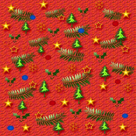 クリスマスギフトバッグの様々なオブジェクトや色