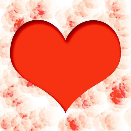 mottled: valentine heart scrapbook cutout  on mottled  background