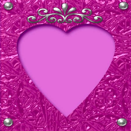 valentine heart scrapbook cutout  on lavender  background