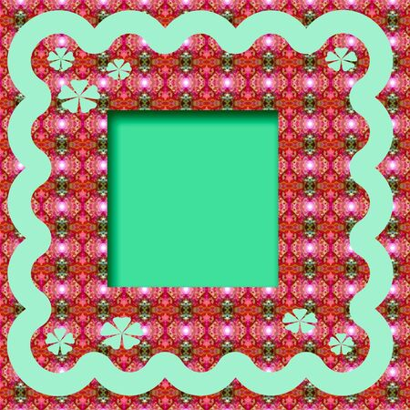 photo frame scrapbook cutout on colorful background Фото со стока
