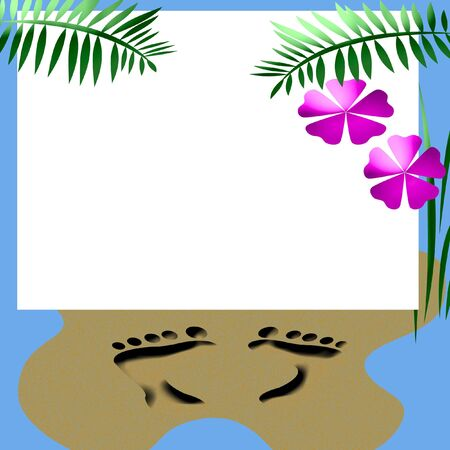 blank center: beach party invitation blank center with beach accents