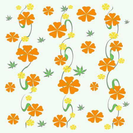 ブドウ ギフト袋に色とりどりの花が散乱してください。
