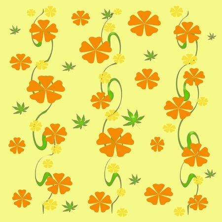 ブドウのギフトバッグに散らばって色とりどりの花 写真素材
