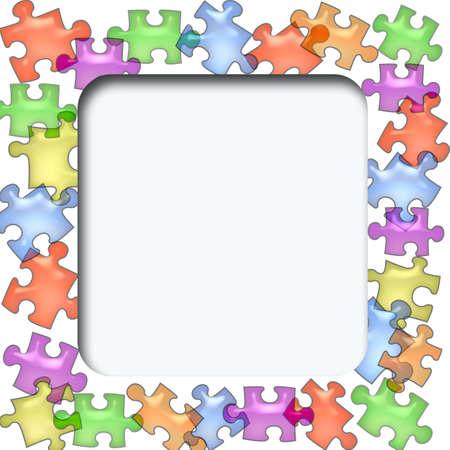 photo: photo frame scrapbook cutout on colorful background Stock Photo