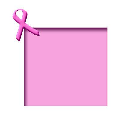 유방암 인식 핑크 리본 컷 아웃 프레임에 스톡 콘텐츠