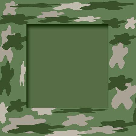 military camouflage scrapbook  frame on cutout center Stok Fotoğraf - 2366675
