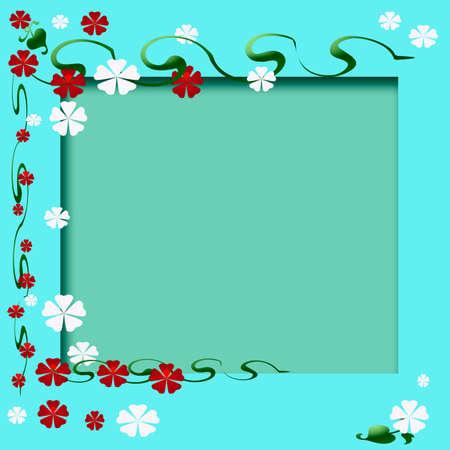 Plak boek frame met bloemen tuin accenten op knipsel center