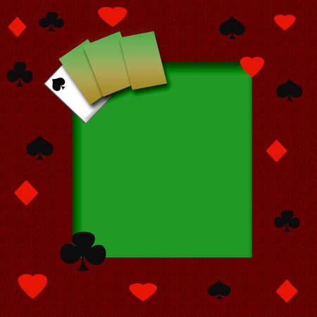 poker game frame on cutout background scrapbook page Stok Fotoğraf
