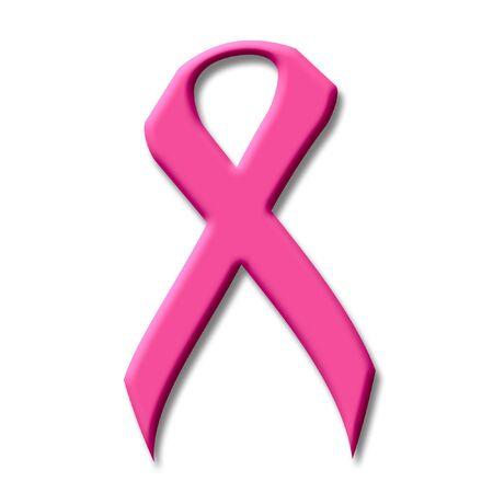 유방암 핑크 리본 3d 일러스트 레이션
