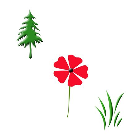 tree flower and grass poster things that grow