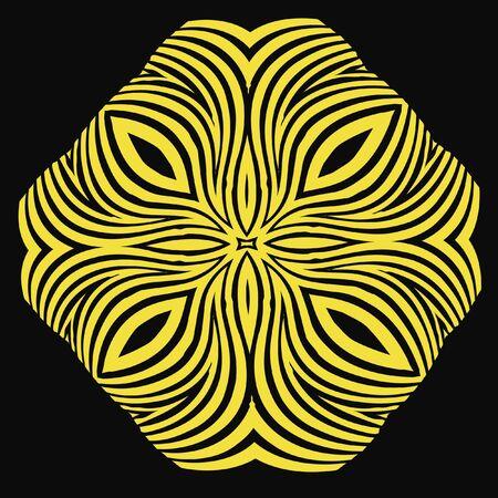 visual effect: black and yellow shape strobe effect illustration Stock Photo