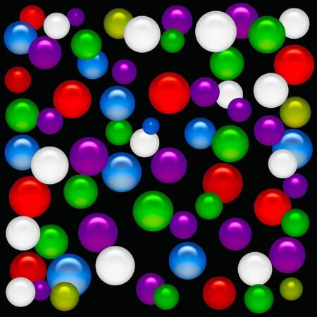 bright color party balloons  on solid background illustration