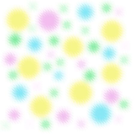 fuzzy pastel color shapes on white background  Stock Photo