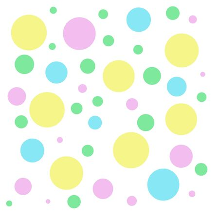 pastel color balloons shapes on white background