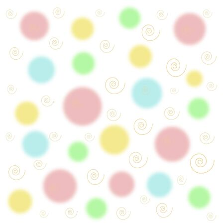 pastel color shapes on white background  gift wrap