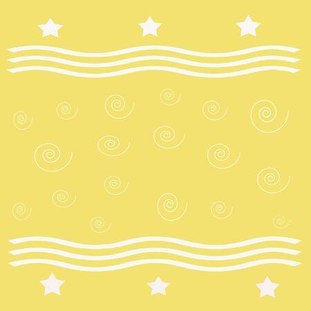 white stars and stripes on yellow background  gift wrap Stock Photo