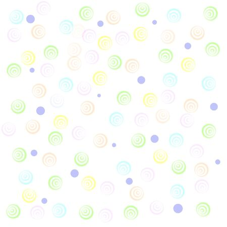 pastel color circles on white background  gift wrap