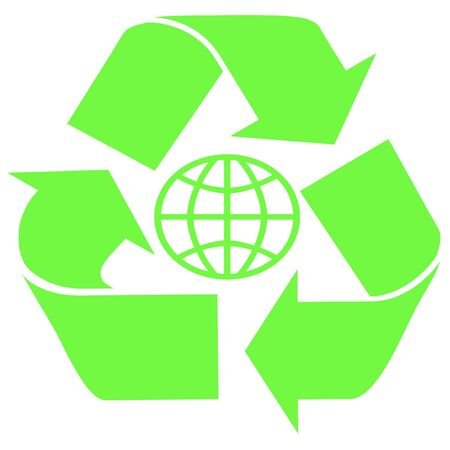 green recycle symbol earths limited resources illustration