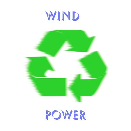 green recycle symbol earths wind power resources illustration