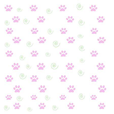 ピンクの足の印刷物と白い背景の上の緑のまんじ 写真素材