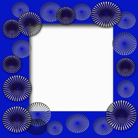 metal blades frame white cutout center illustration Stock fotó