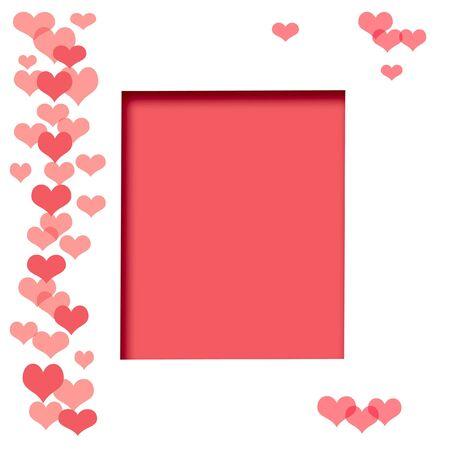 corazones en el fondo blanco bloc de notas ilustra la página Foto de archivo - 3869204