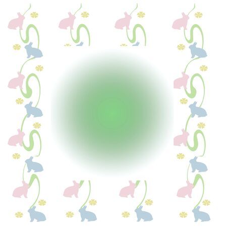 pastel color bunnies and flowers on white background baby gift wrap