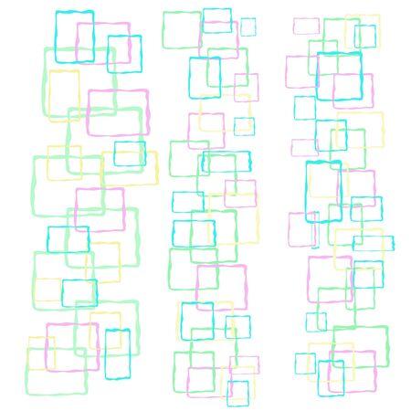 pastel pastel squares on white background baby gift wrap Stock Photo