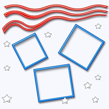inauguration theme red white and blue stars and stripes on scrapbook page