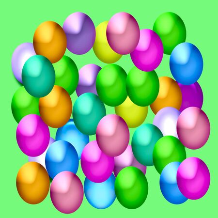 dyed Easter eggs assorted colors abstract illustration