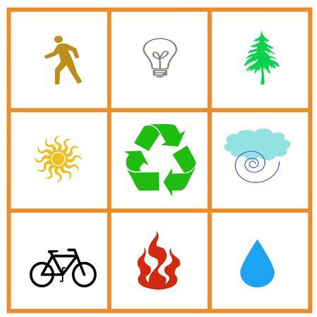 resource poster symbols in framed background illustration Stok Fotoğraf