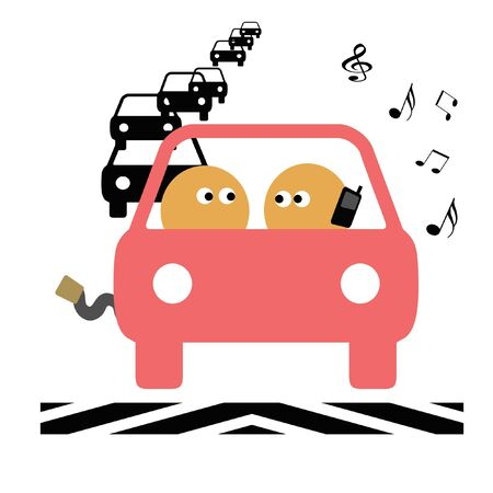 careless: teen driver safety pink and black on white illustration