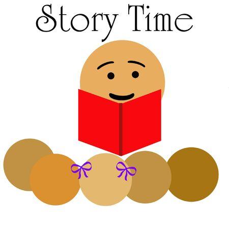 子供のイラストの話の時間を読書学校教師