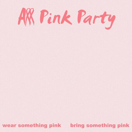 all pink party poster pink ribbon breast cancer theme illustration  Zdjęcie Seryjne