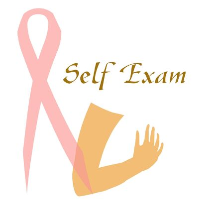 breast cancer awareness self examination illustrated poster Stock Photo - 5657174