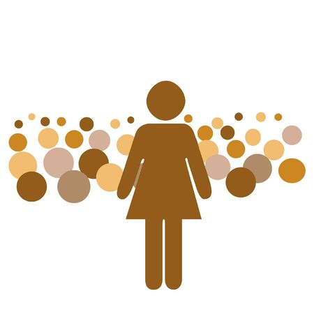 large crowd: woman speaking before a large crowd illustration Stock Photo
