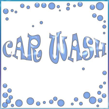 blue soap bubbles on white background illustration Stock Illustration - 7336213