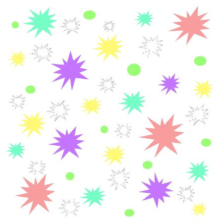 colorful pastel splats and circles on white illustration