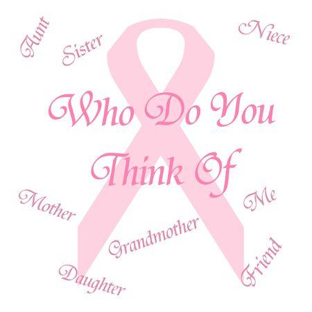 Ruban rose rappelez-vous illustration de l'affiche du cancer du sein Banque d'images - 7916008