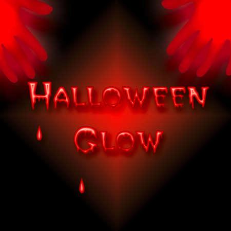 eerie neon glow bleeding Halloween poster illustration Stock Illustration - 8073639