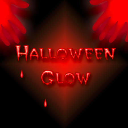 bleeding: eerie neon glow bleeding Halloween poster illustration