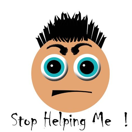 bulging: stressed out face with bulging eyes illustration Stock Photo
