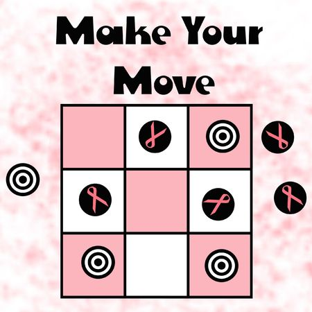 pink and black game pieces on board illustration