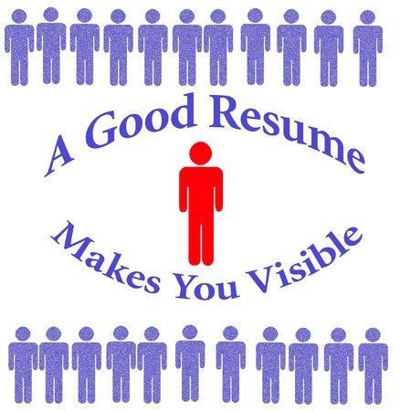 get a good resume red white and blue illustration