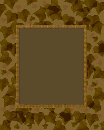 dark camouflage foliage border scrapbook page  illustration