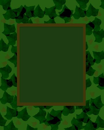 dark camouflage foliage border scrapbook page  illustration