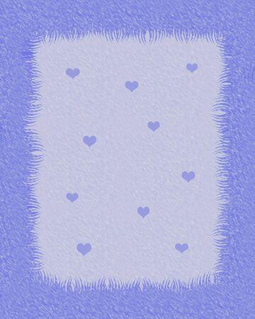 furry scrapbook frame with tiny hearts illustration Stok Fotoğraf - 8691749