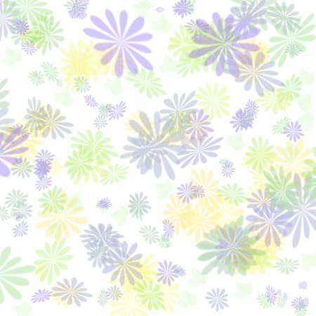 pastel blue flowers on white background illustration